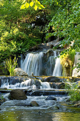 Waterfall At Lake Katherine Art Print by Larry Bohlin