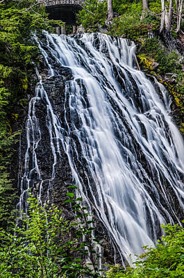 Waterfall At Mt. Rainier Art Print