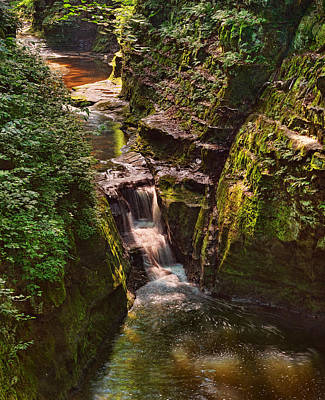 Photograph - Waterfall At Pewitt's Nest by Leda Robertson