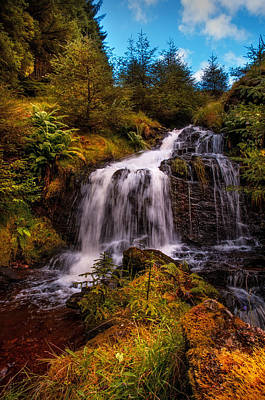 Photograph - Waterfall At Rest And Be Thankful. Scotland by Jenny Rainbow