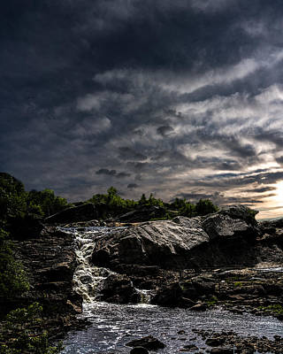 Maine Photograph - Waterfall At Sunrise by Bob Orsillo