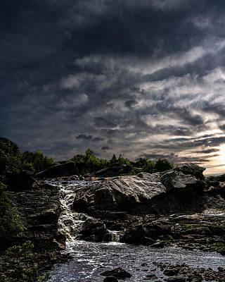 Waterfall At Sunrise Art Print by Bob Orsillo