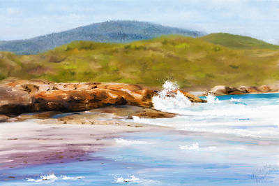 Painting - Waterfall Beach Denmark Painting by Michelle Wrighton