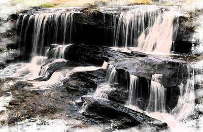 Photograph - Waterfall Brevard Nc by Bob Pardue