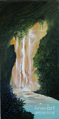 Painting - Waterfall Canyon by David Kacey