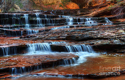 Waterfall Cascade North Creek Art Print