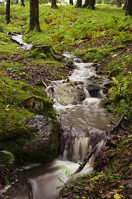 Serene Landscape Photograph - Waterfall by Amanda Elwell