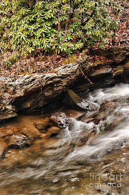 New England Fall Photograph - Waterfall Detail by HD Connelly