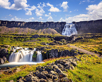 Abstract Stripe Patterns - Waterfall Dynjandifoss by Alexey Stiop