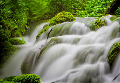 Tranquil Photograph - Waterfall  by Modern Art Prints