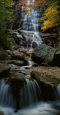 Autumn Scene Photograph - Waterfall In A Forest, Arethusa Falls by Panoramic Images