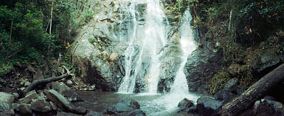 Waterfall In A Forest, Chiang Mai Art Print