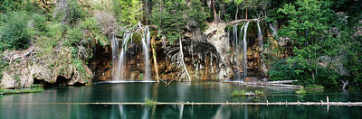 Waterfall In A Forest, Hanging Lake Art Print