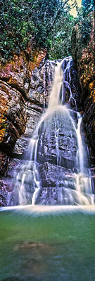 Puerto Rico Photograph - Waterfall In A Forest, La Mina Falls by Panoramic Images