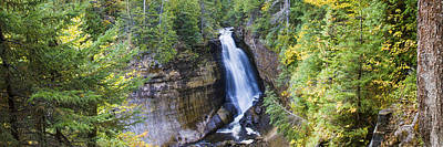Urban Scenes Photograph - Waterfall In A Forest, Miners Falls by Panoramic Images