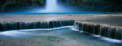 The Grand Place Photograph - Waterfall In A Forest, Mooney Falls by Panoramic Images