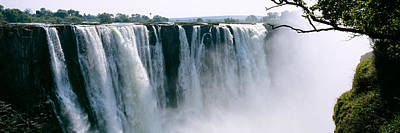 Waterfall In A Forest, Victoria Falls Art Print by Panoramic Images