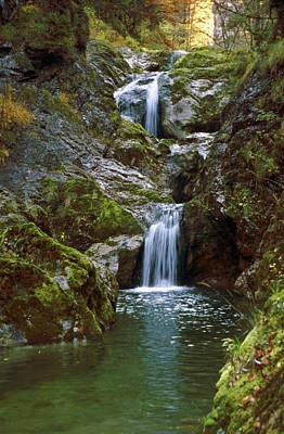 Wellspring Photograph - Waterfall In Austria Lassingfall by Thomas Aichinger