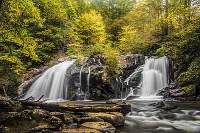 Sc Waterfalls Photograph - Waterfall In Autumn by Debra and Dave Vanderlaan