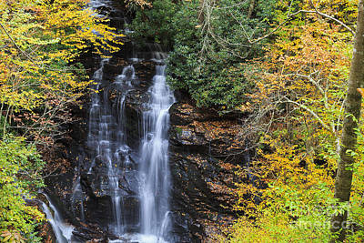 Creeks Photograph - Waterfall In Autumn by Jill Lang