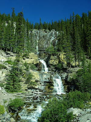 Photograph - Waterfall In Banff National Park by Georgia Hamlin