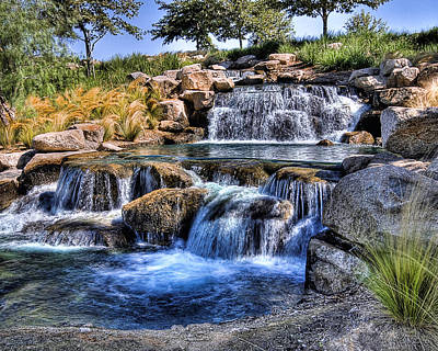Photograph - Waterfall In Blue by Wayne Wood