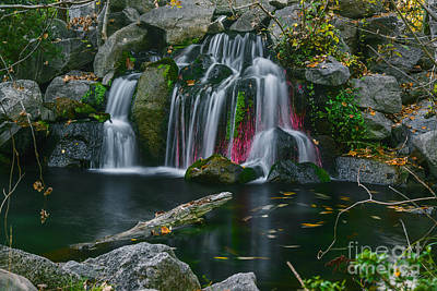 Nature Center Pond Photograph - Waterfall In Boise by Vishwanath Bhat