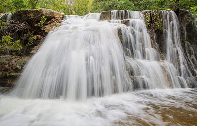 Photograph - Waterfall In Bull Creek Tributary by Steven Schwartzman