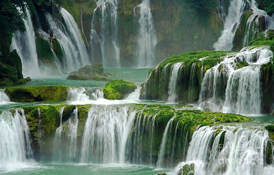 Photograph - Waterfall In Green by Charline Xia