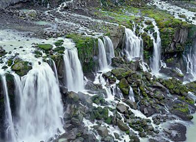 Waterfall In Iceland Art Print by Birgir Freyr Birgisson