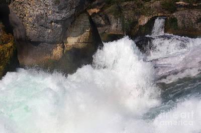 Photograph - Waterfall In Neuhausen Near Schaffhausen by Nick  Biemans