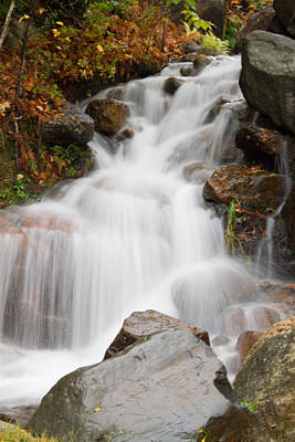 Photograph - Waterfall In Nh by Natalie Rotman Cote