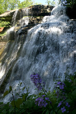 Photograph - Waterfall In Ohio by Emanuel Tanjala