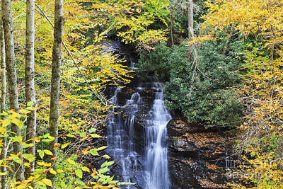 Photograph - Waterfall In The Fall by Jill Lang
