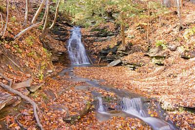 Waterfall In The Fall Art Print