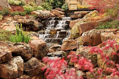 Photograph - Waterfall In The Garden by Elizabeth Budd