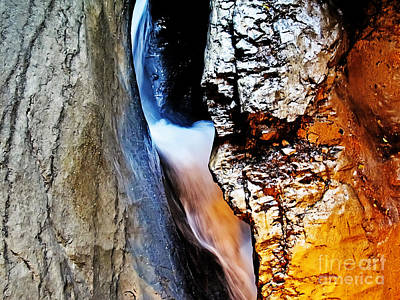 Photograph - Waterfall In The Mountain by Elvis Vaughn