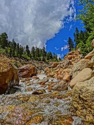 Waterfall In The Rockies Art Print by Dan Sproul