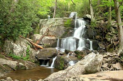 Photograph - Waterfall In The Smokies by Adam Jewell