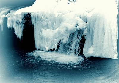 Photograph - Waterfall In Winter by Dan Sproul