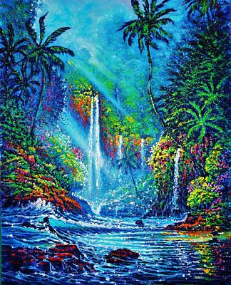 Painting - Waterfall by Joseph   Ruff