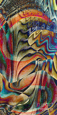 Waterfall Art Print by Klara Acel