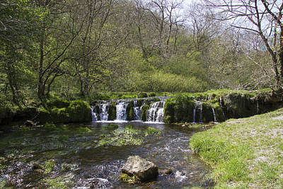 Photograph - Waterfall Lathkill Dale Derbyshire by Bob Kemp