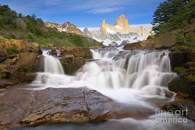 Photograph -  Los Glaciares Waterfall by Yva Momatiuk John Eastcott