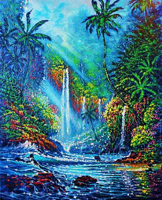 Painting - waterfall lV by Joseph   Ruff