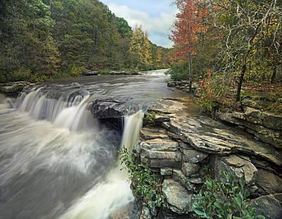 Waterfall Mulberry River Arkansas Art Print by Tim Fitzharris