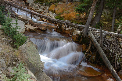 Waterfall Near Breckenridge Art Print