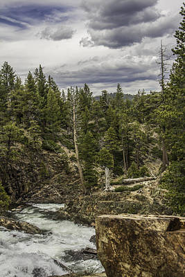 Photograph - Waterfall Near Lake Tahoe California  by John McGraw