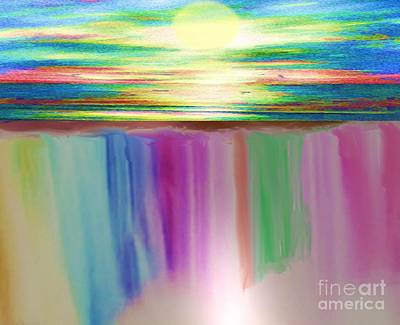 Painting - Waterfall Of Rainbows by Belinda Threeths