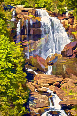Photograph - Waterfall Of Rural North Carolina by David Letts